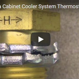 Cabinet Coolers - Adjusting the Thermostat