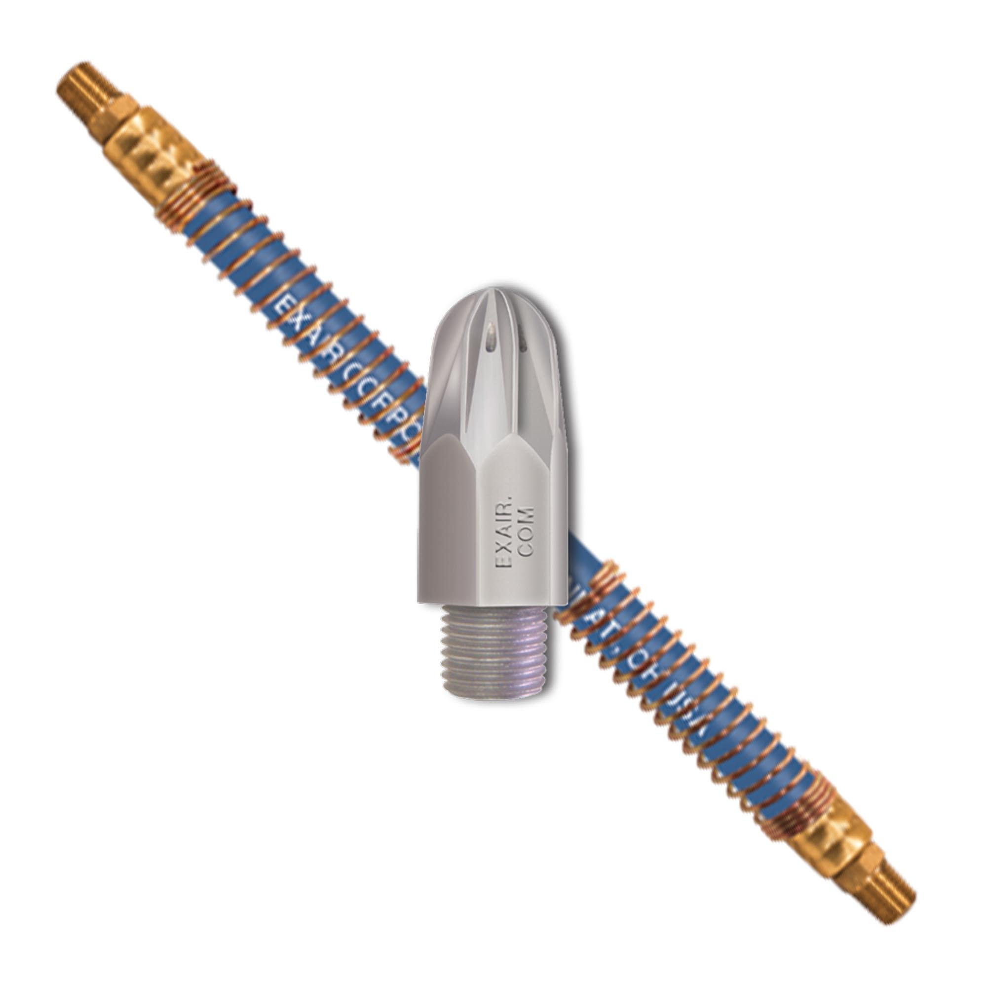 Model 1103-9256 Mini Super Air Nozzle with Stay Set Hose creates precise positioning of the air nozzle