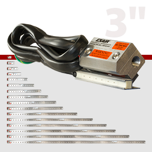 """Super Ion Air Knives are available, from stock, in lengths of 3"""" up to 108""""."""