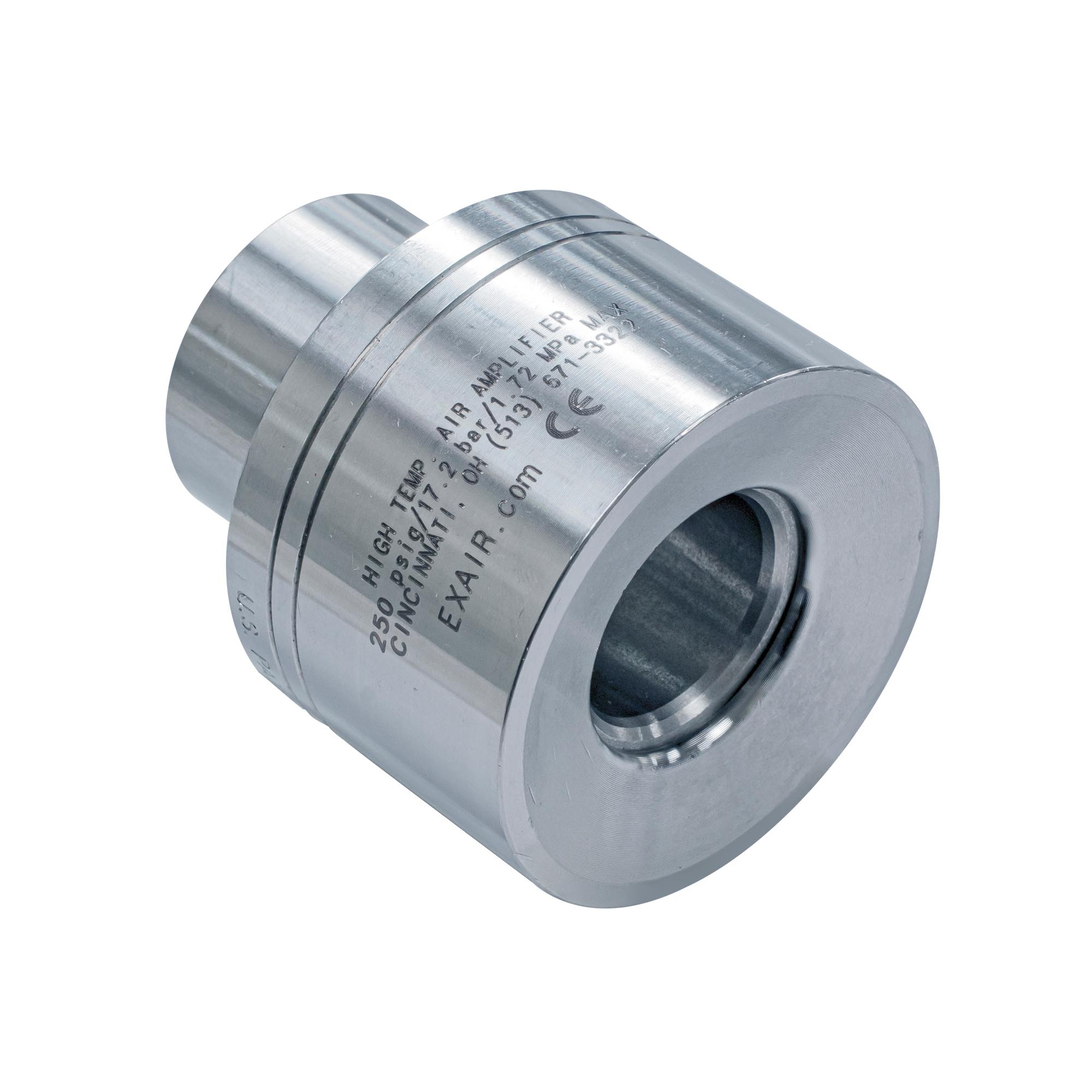 "Model 121021 1-1/4"" Alum. High Temperature Air Amplifier"