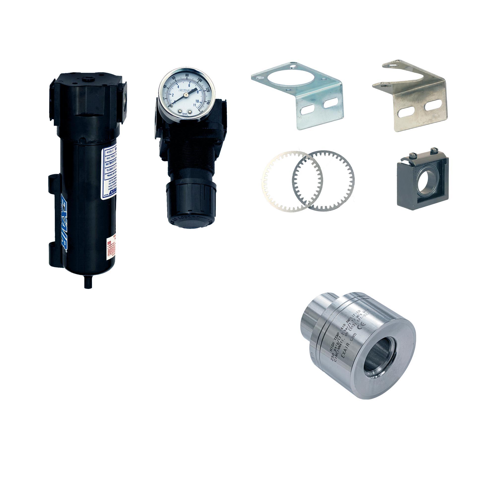 "Model 121221 1-1/4"" Alum. High Temperature Air Amplifier Kit"