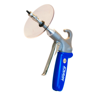 Soft Grip Safety Air Guns are available with chip shields.
