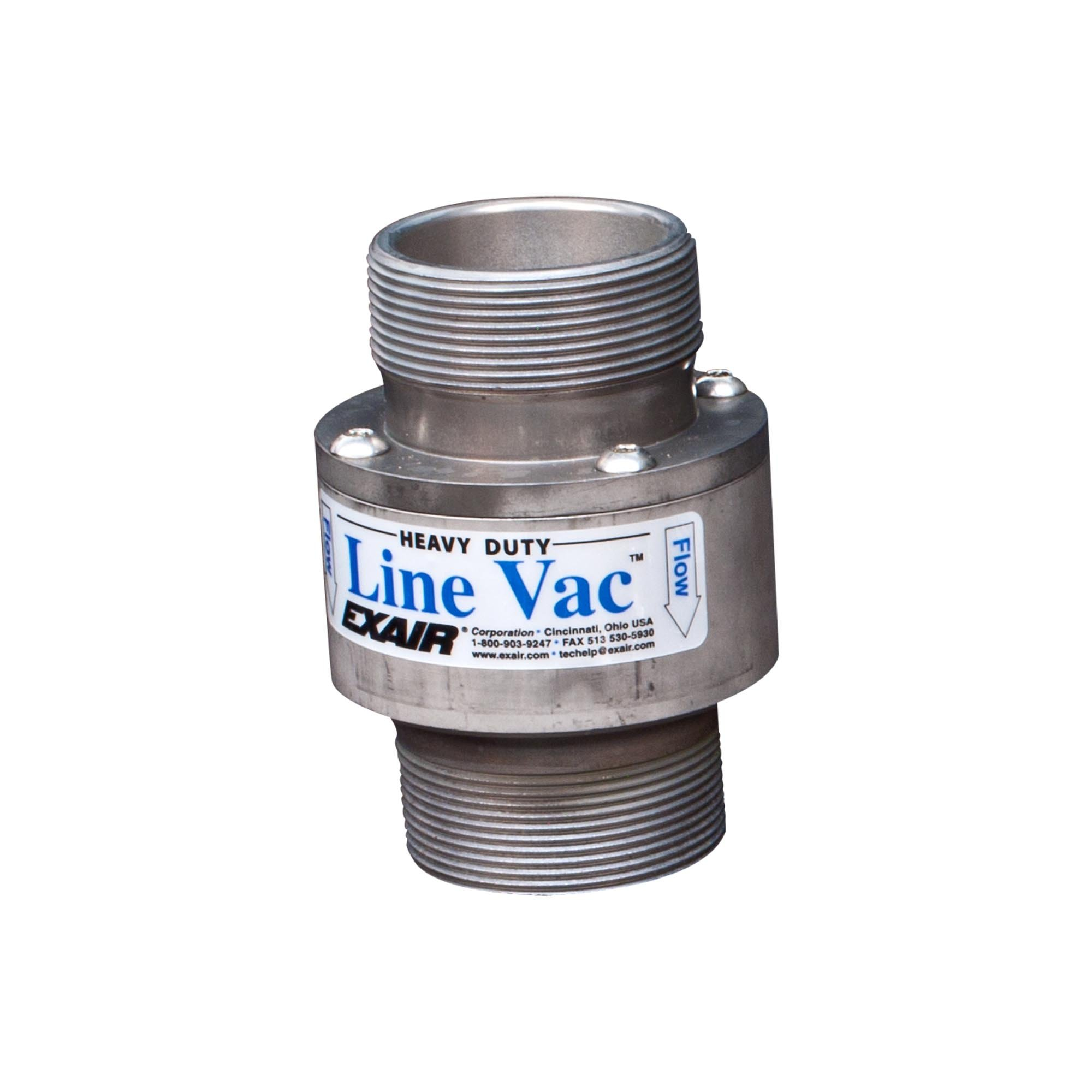 Model W151200 2 NPT Heavy Duty Threaded Line Vac
