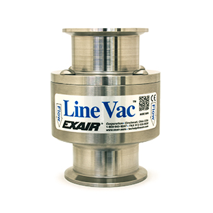 "Sanitary Flange Line Vacs are available in 4 sizes from 1-1/2"" to 3""."