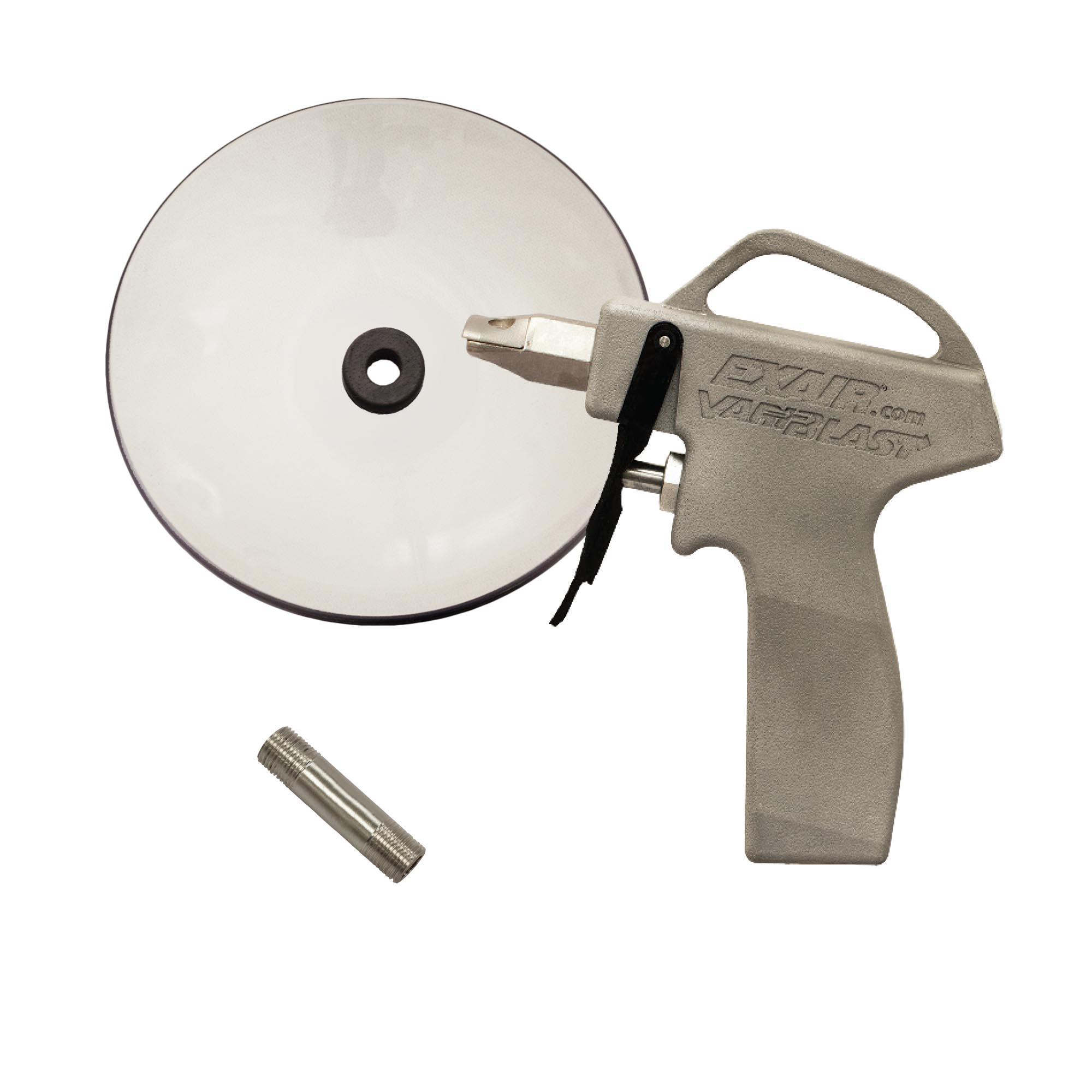 "Model 1629-CS VariBlast Compact Safety Air Gun with 1"" Flat Super Air Nozzle and Chip Shield"