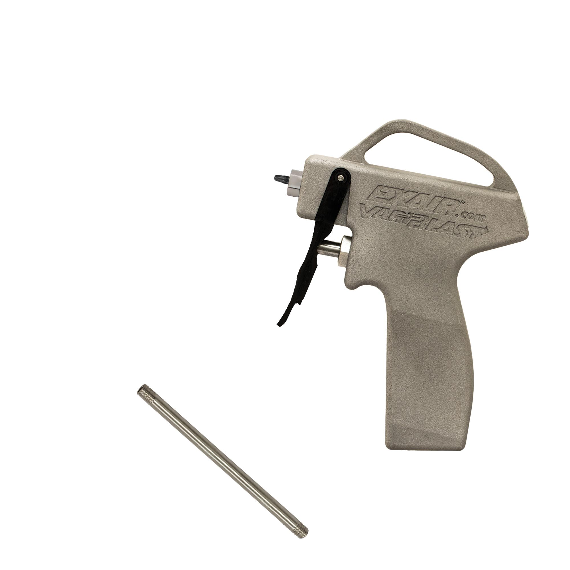 """VariBlast Compact Safety Air Gun with 1108-PEEK Atto Super Air Nozzle and 6"""" Extension Pipe"""