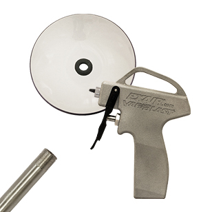 "Model 1696-PEEK-48-CS VariBlast Compact Safety Air Gun with PEEK Atto Super Air Nozzle, 48"" Extension Pipe, and Chip Shield"