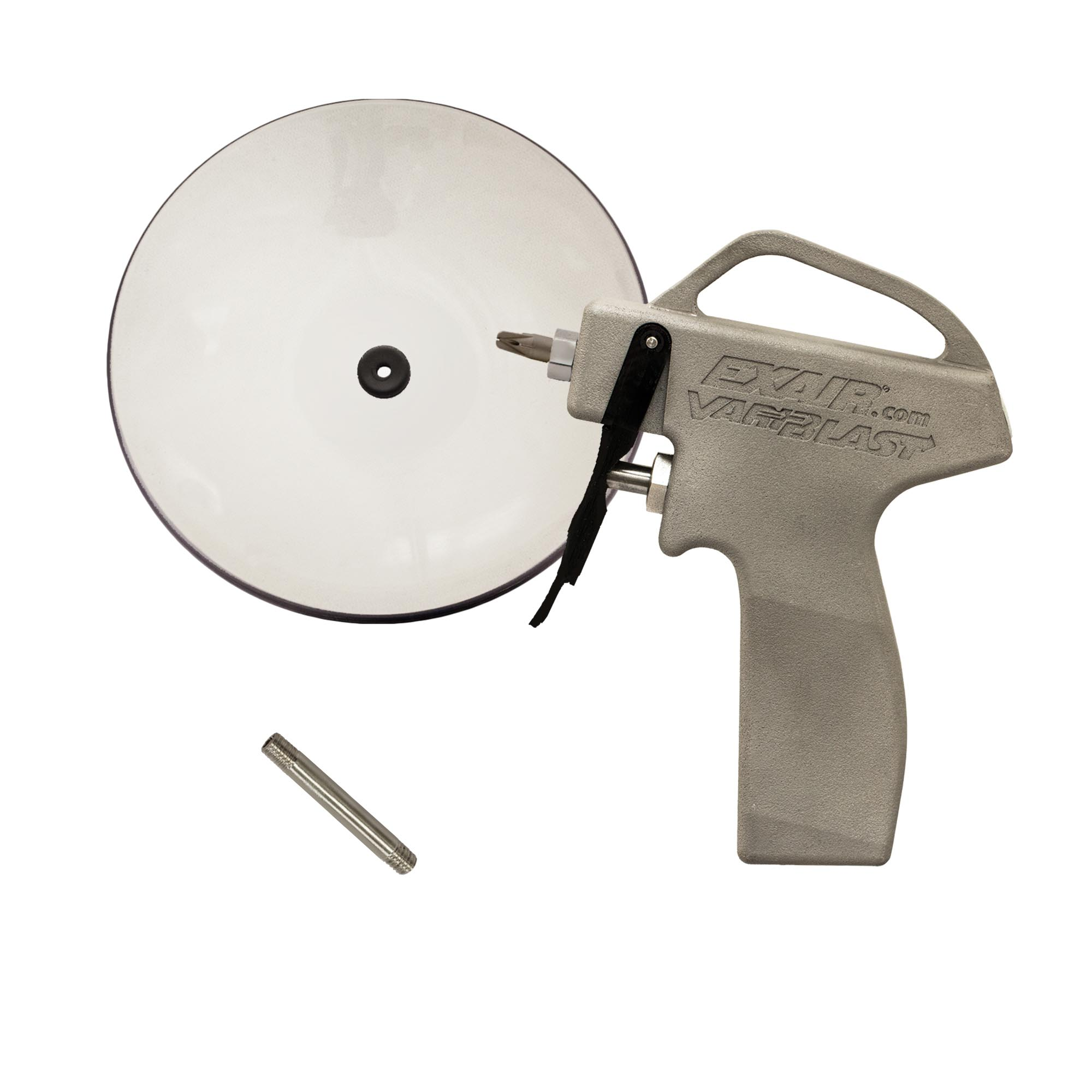 Model 1698SS-CS VariBlast Compact Safety Air Gun with Stainless Steel Nano Super Air Nozzle and Chip Shield