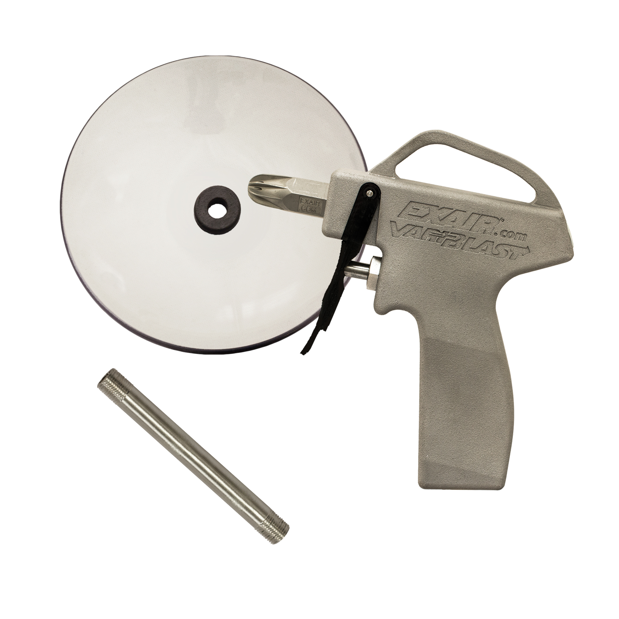 """Model 1699-36-CS VariBlast Compact Safety Air Gun with Model 1103 Air Nozzle, 36"""" Alum. Ext Pipe & Chip Shield"""