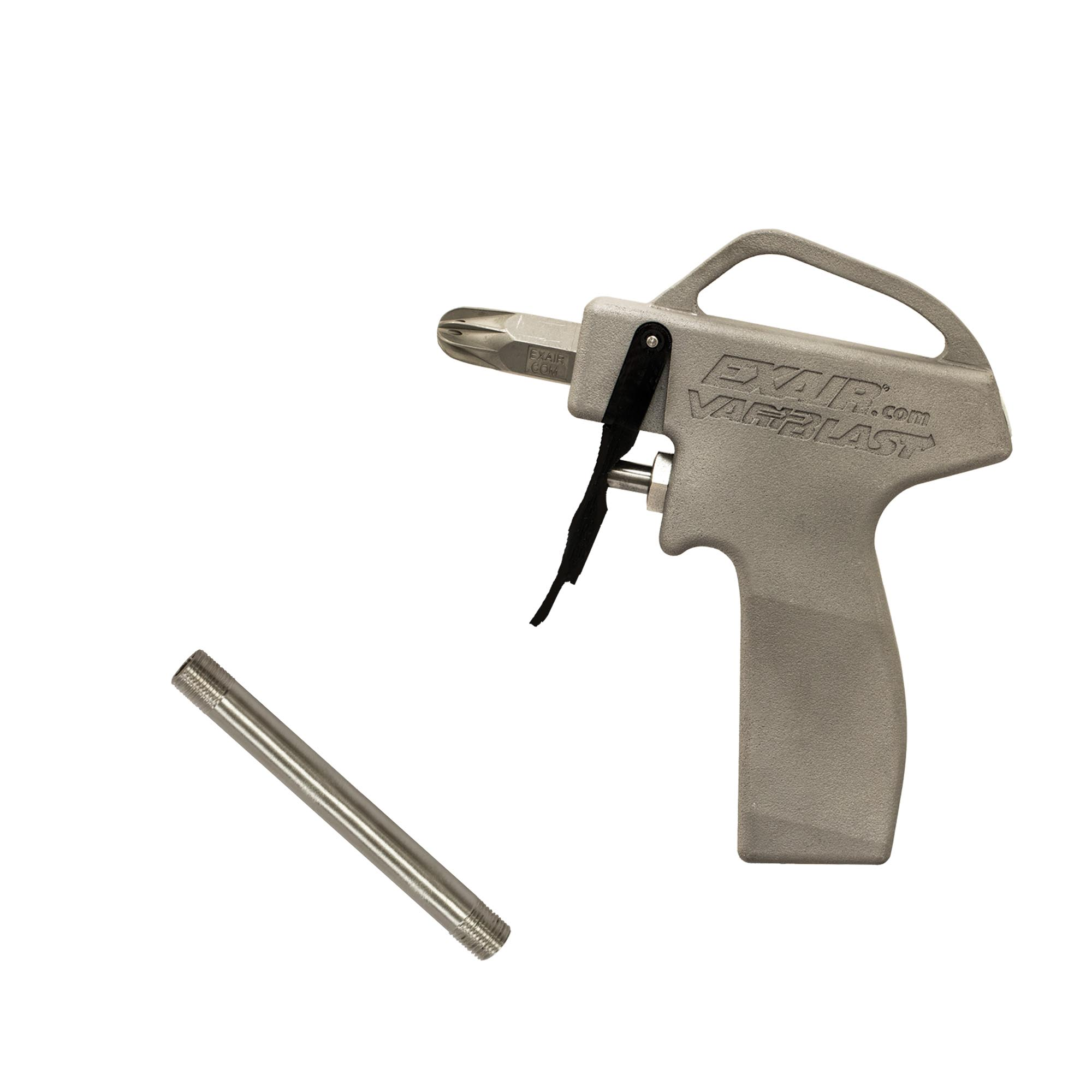"VariBlast Compact Safety Air Guns are available with extension pipes up to 72"" long"