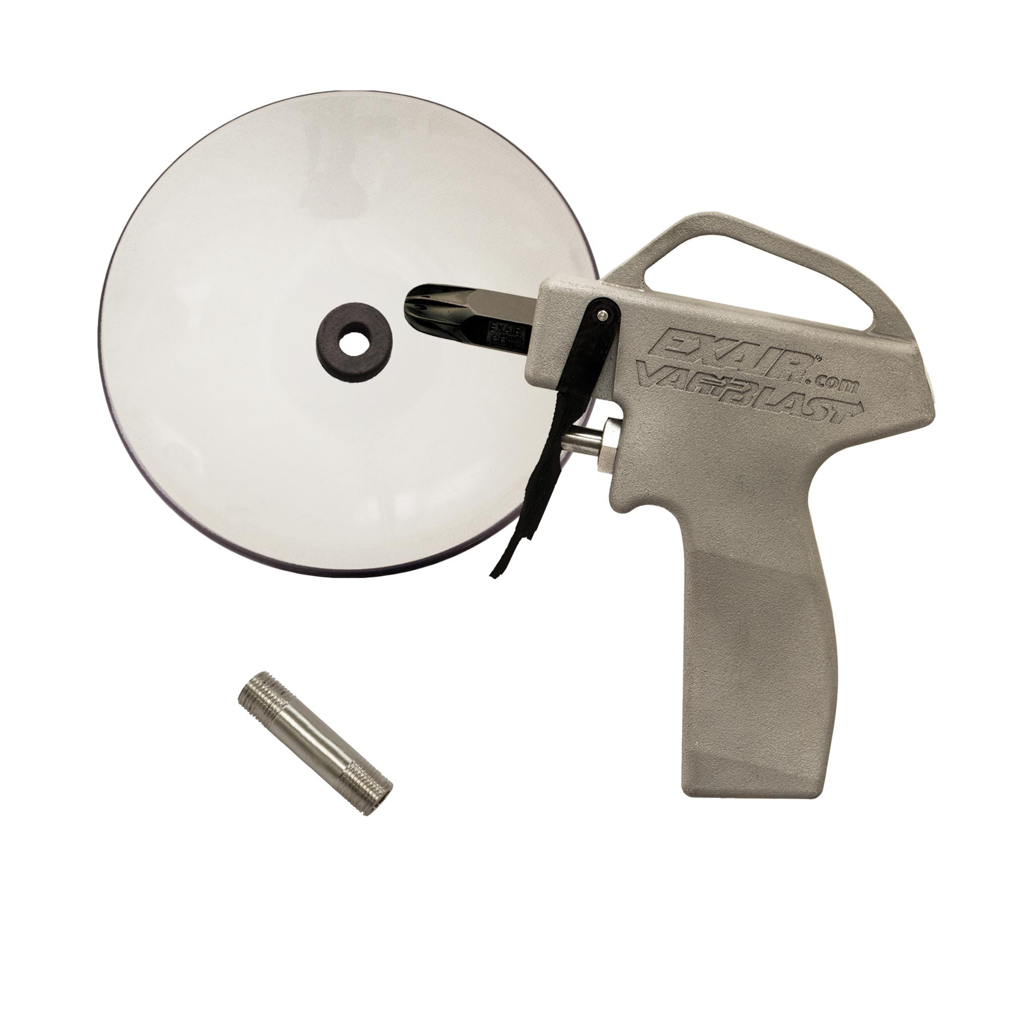 Model 1699-PEEK-CS VariBlast Compact Safety Air Gun with 1102-PEEK Mini Super Air Nozzle and Chip Shield