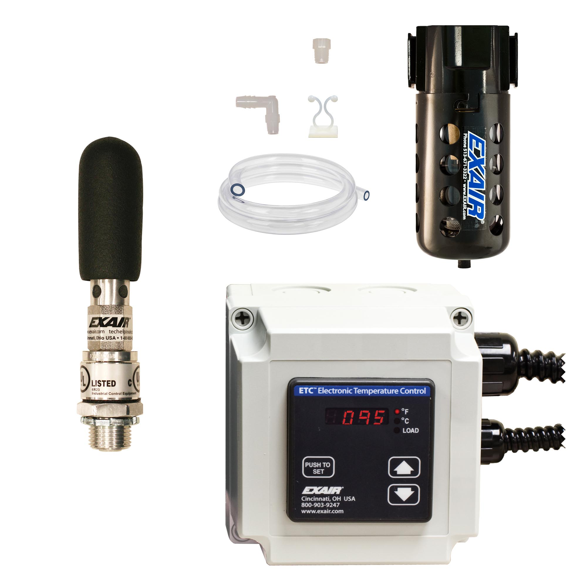 Model W4308-ETC120 NEMA 12 550 Btu/hr Cabinet Cooler System with ETC Thermostat Control, 120V