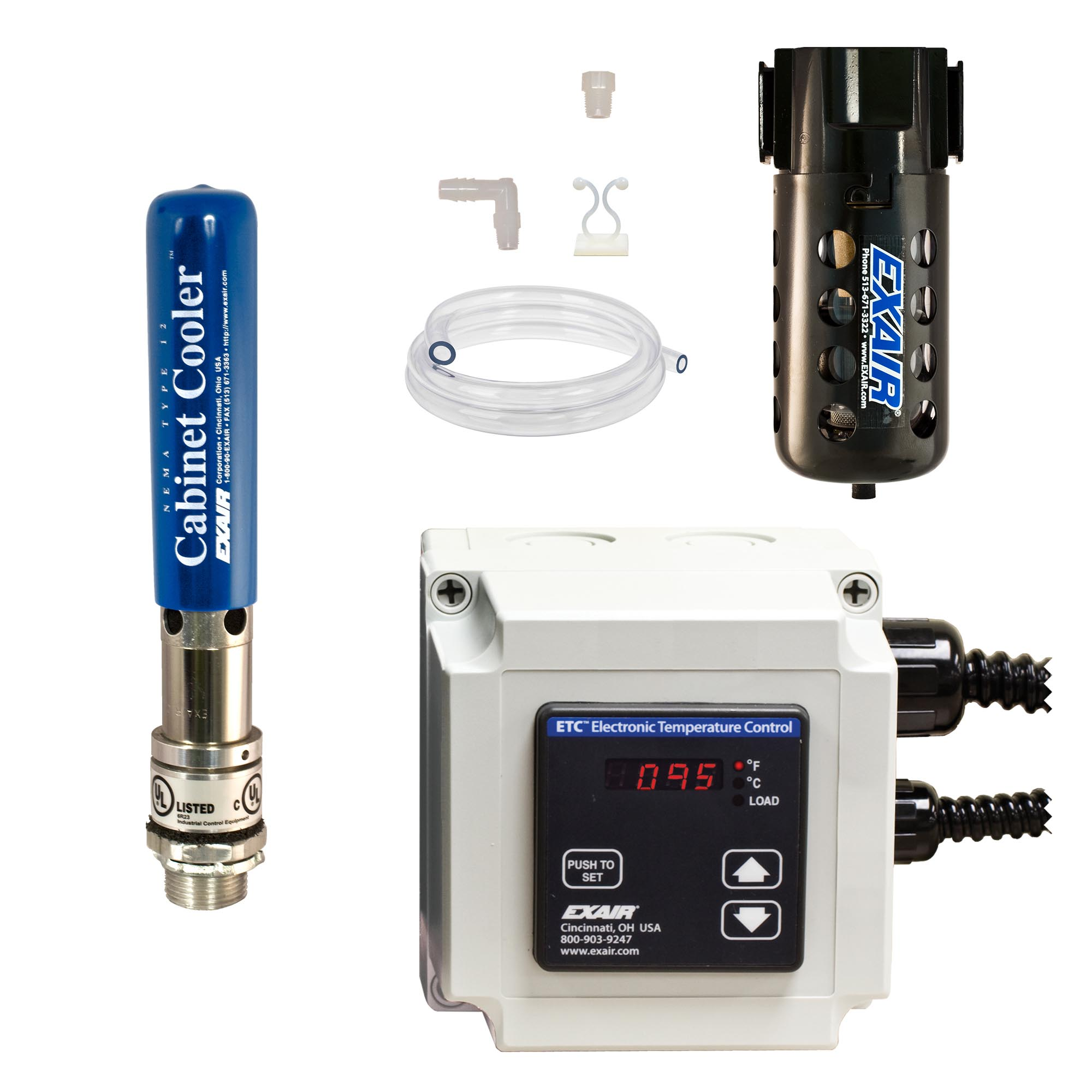 Model W4340-ETC120 NEMA 12 2,800 Btu/hr Cabinet Cooler System with ETC Thermostat Control, 120V