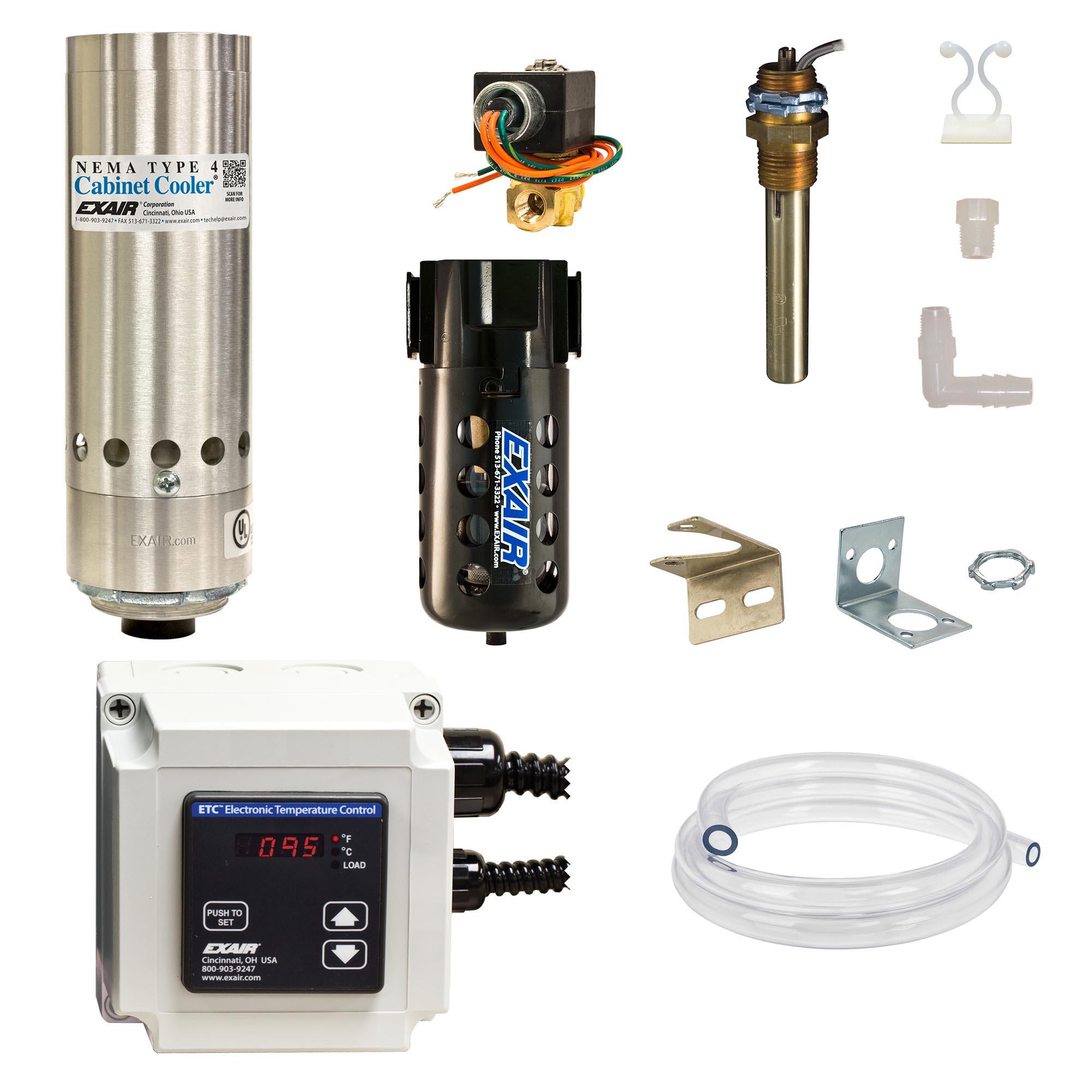 Model W4815-ETC120 NEMA 4 1,000 Btu/hr Cabinet Cooler System with ETC Thermostat Control, 120V