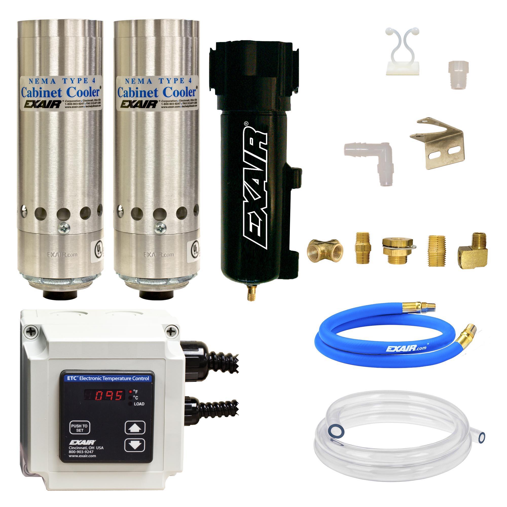 Model W4870-ETC120 NEMA 4 4,800 Btu/hr Cabinet Cooler System with ETC Thermostat Control, 120V