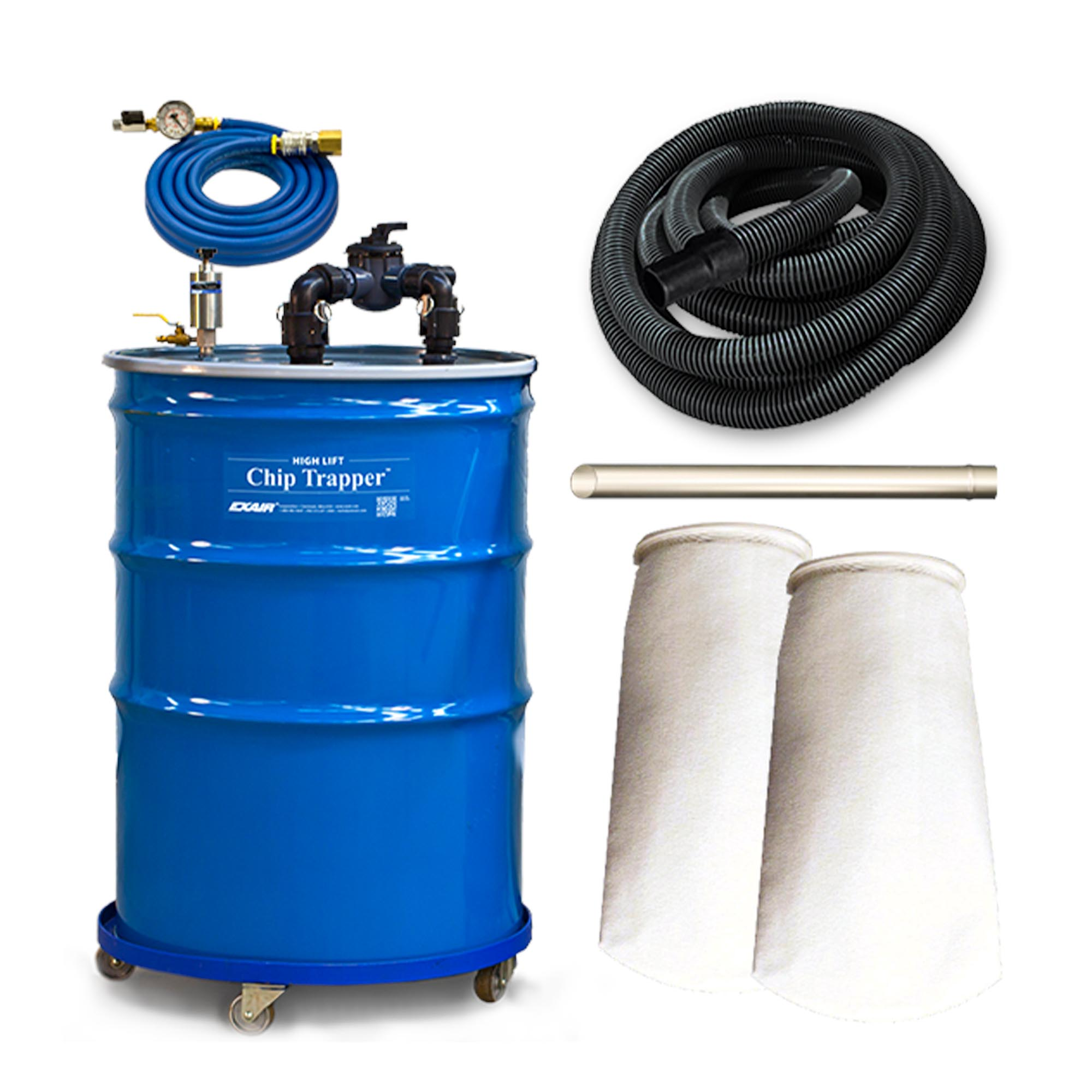Model 6190-110 110 Gallon High Lift Chip Trapper Vacuum System