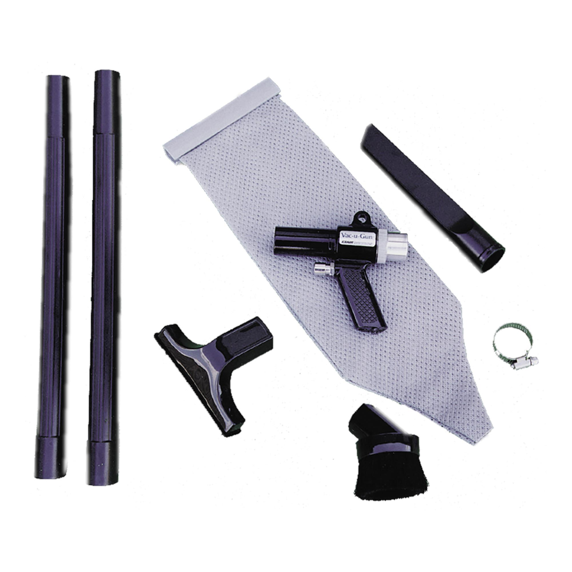 Model 6192 collection system includes the reusable vacuum bag and attachments.