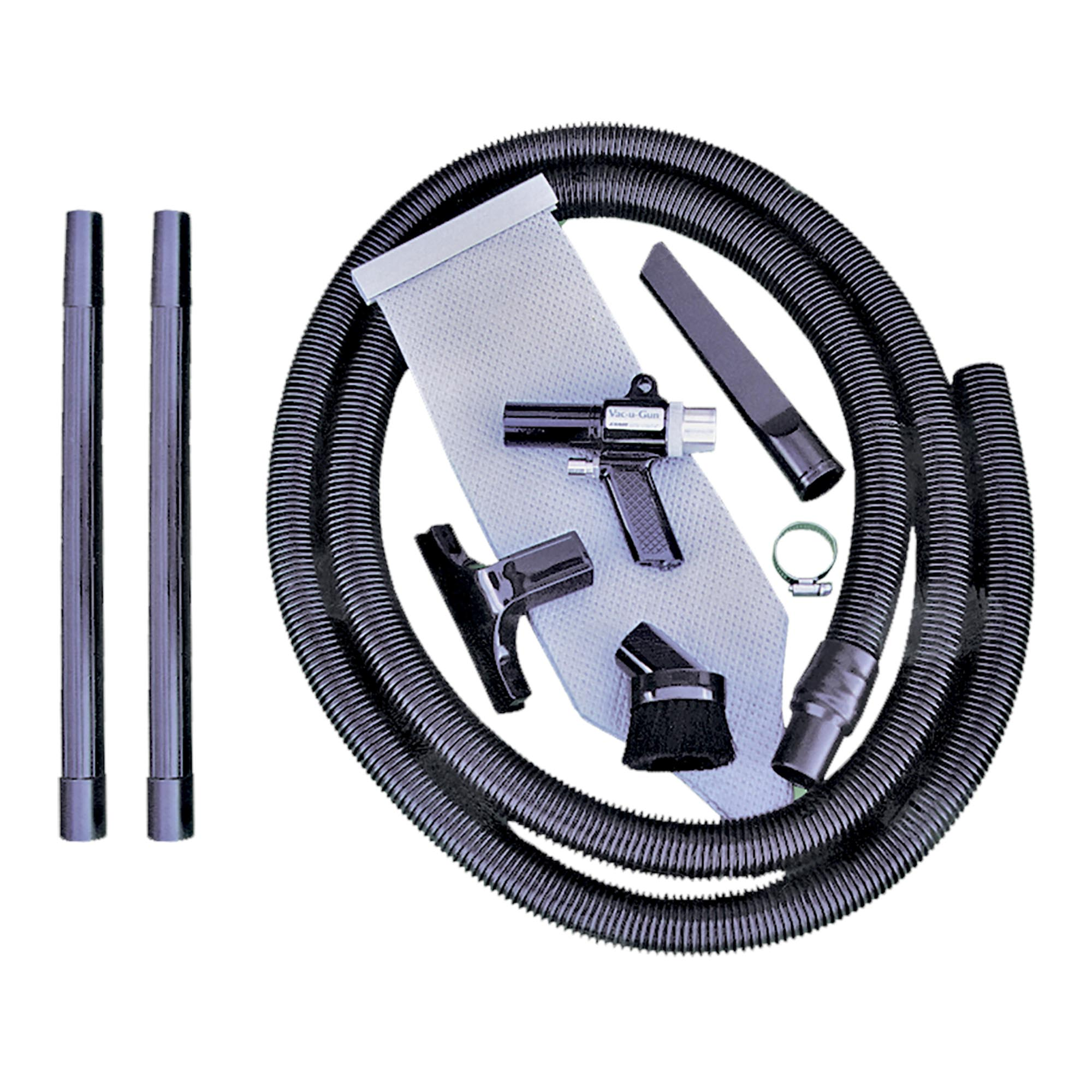 Model 6392 All Purpose System includes the 10' vacuum hose and reusable vacuum bag with all of the attachments.