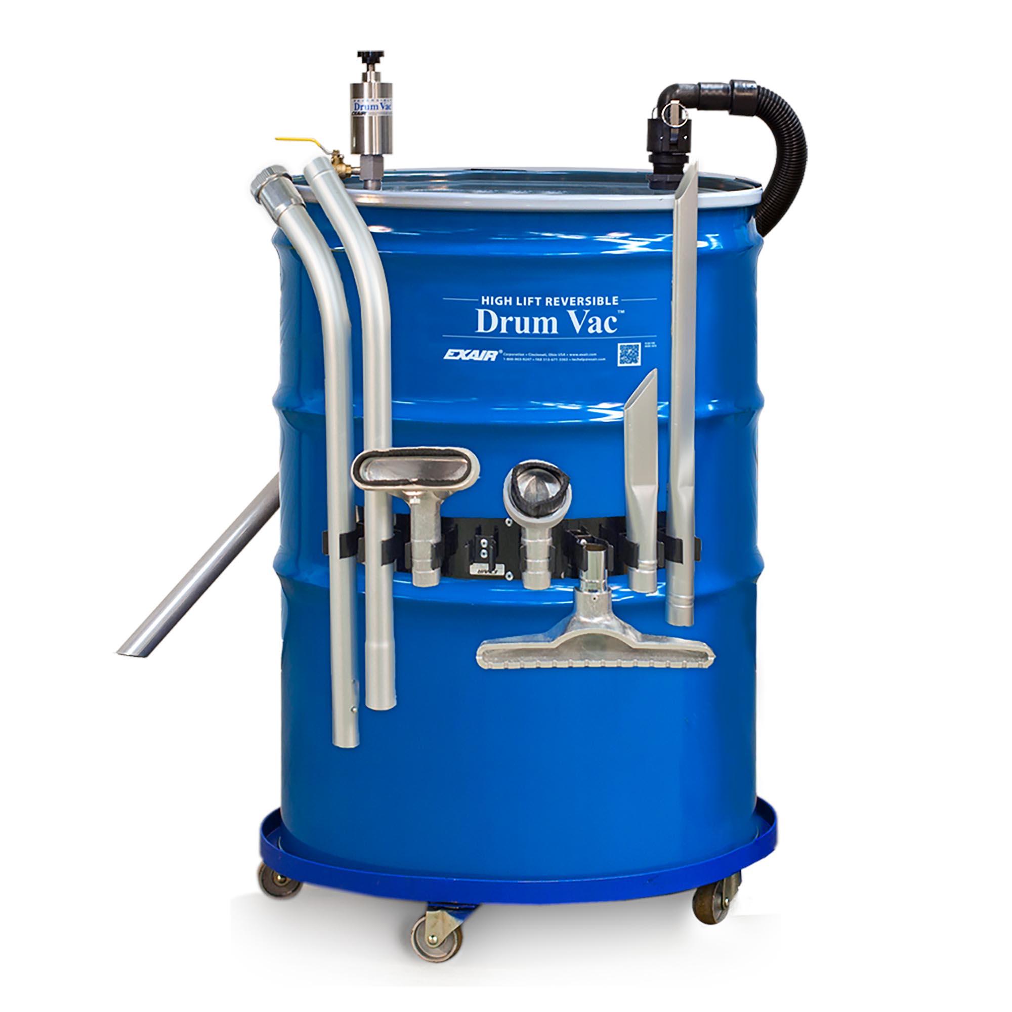 Model 6395-110 110 Gallon High Lift Premium Reversible Drum Vac System