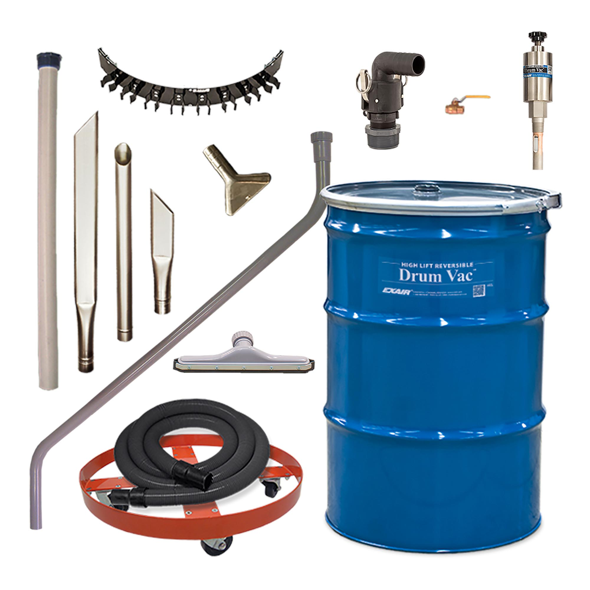 Model 6395 55 Gallon Premium High Lift Reversible Drum Vac System