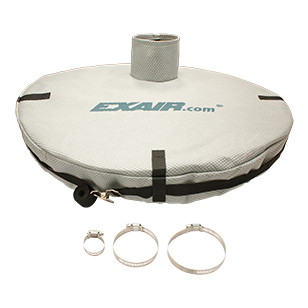 Fine mesh drum cover kits fit 30 and 55 gallon drums to prevent material contamination and keep material contained.