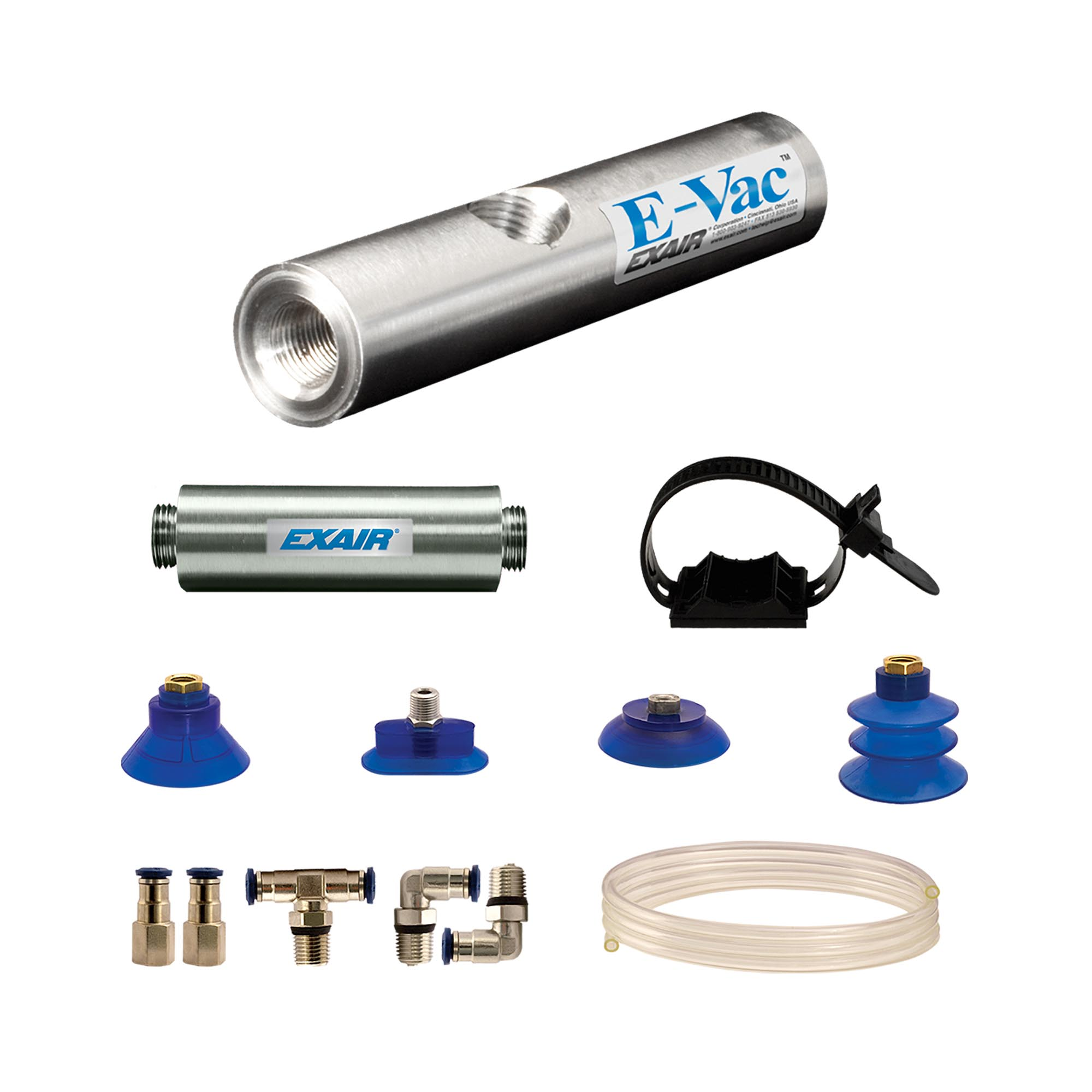 Model 811003M In-Line E-Vac Deluxe kit with straight through muffler .