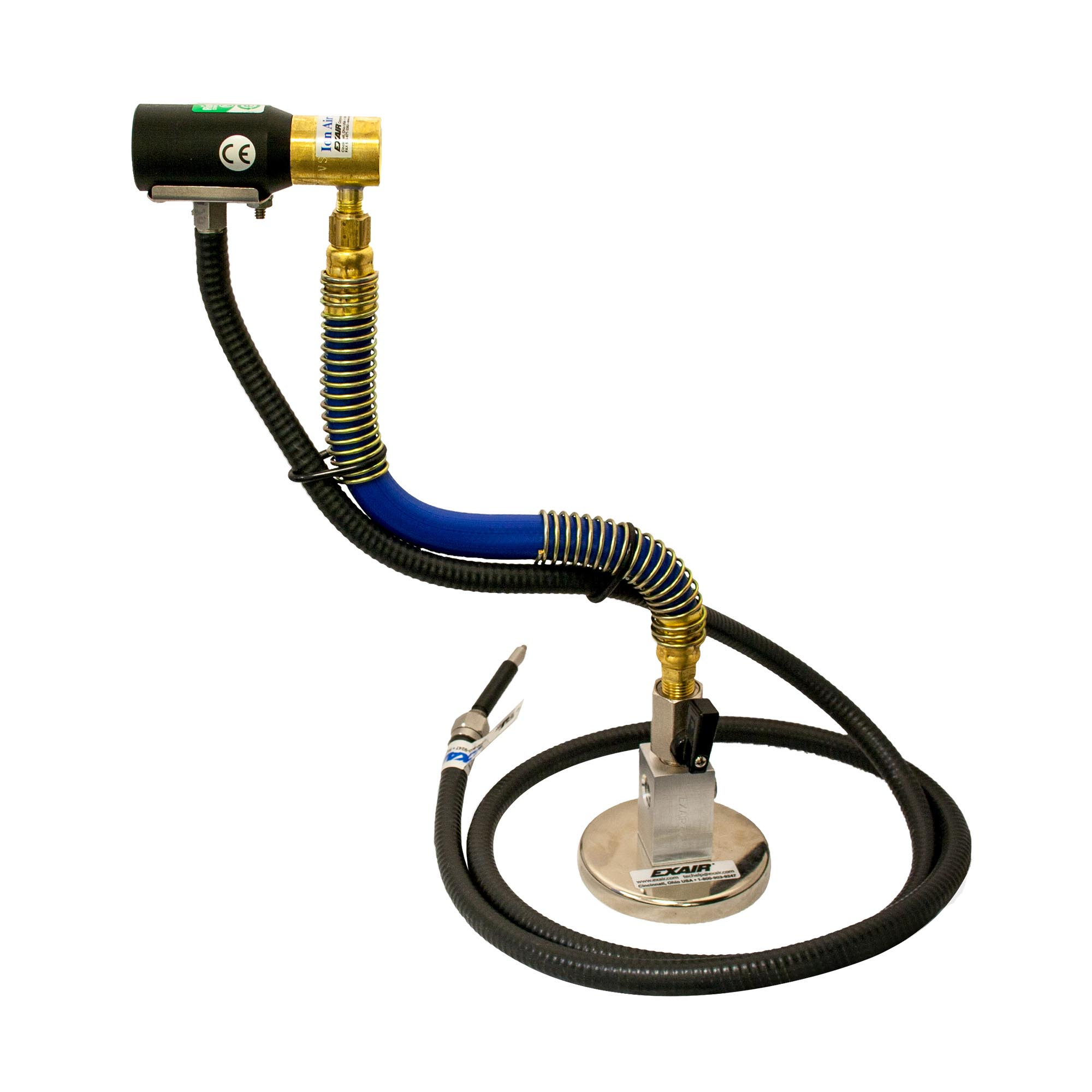 The Gen4 Stay Set Ion Air Jet is an option which provides a magnetic base for mounting and a Stay Set Hose for positioning the Ion Air Jet.