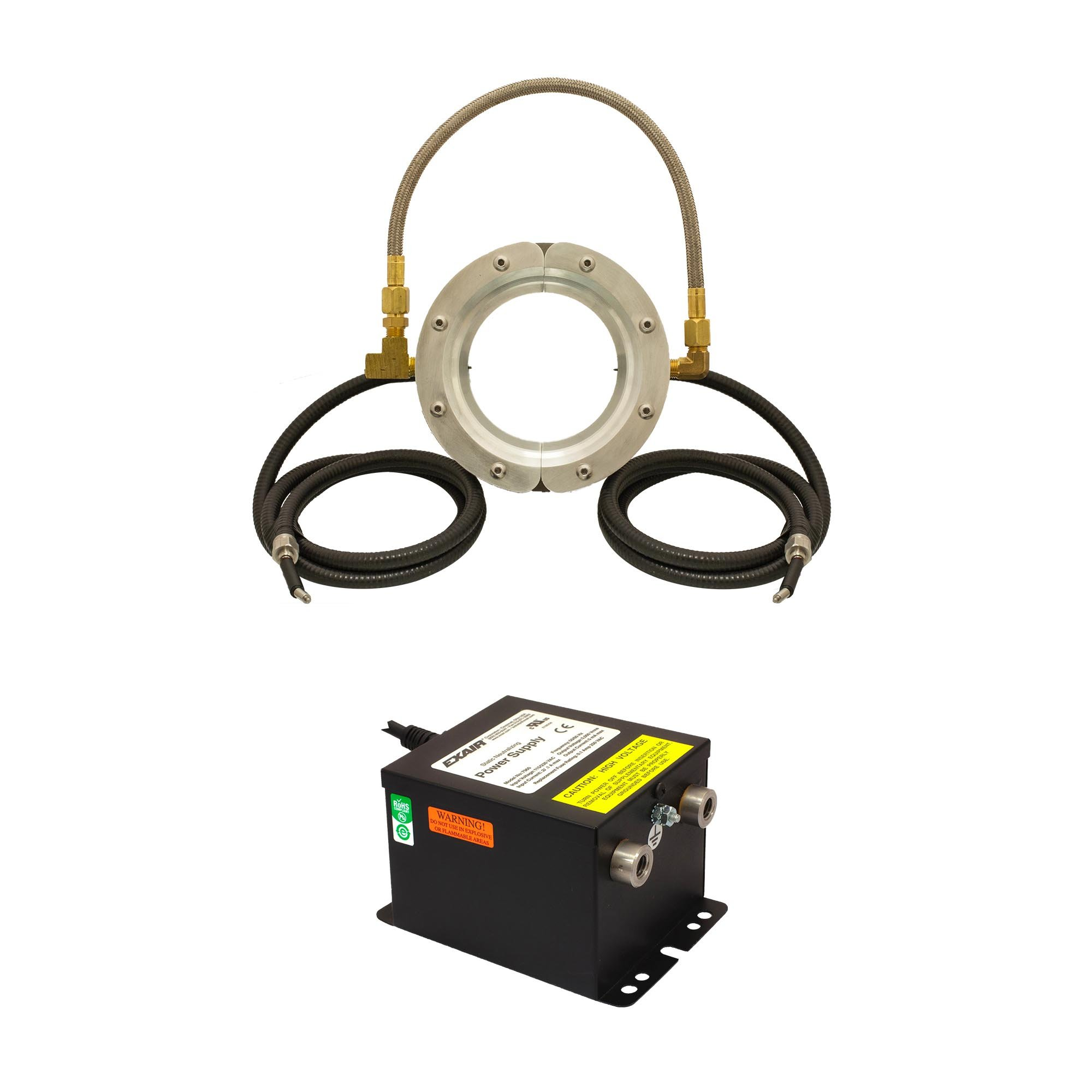 The Super Ion Air Wipe System includes the Super Ion Air Wipe and Power Supply