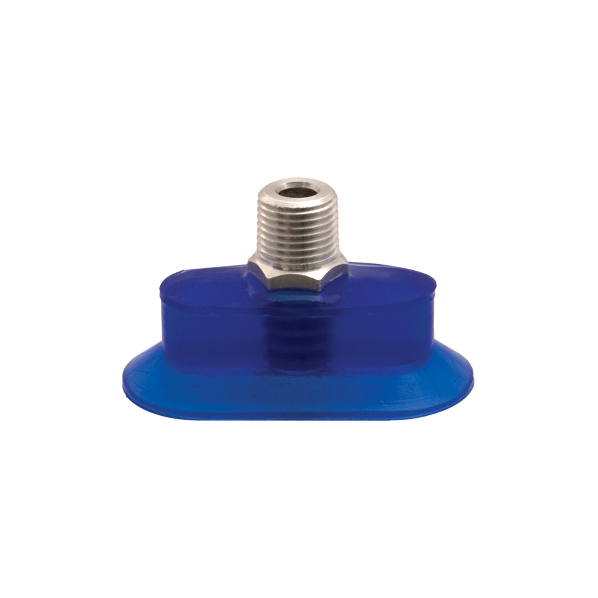 Oval vacuum cups have the largest surface area and provide the most vacuum