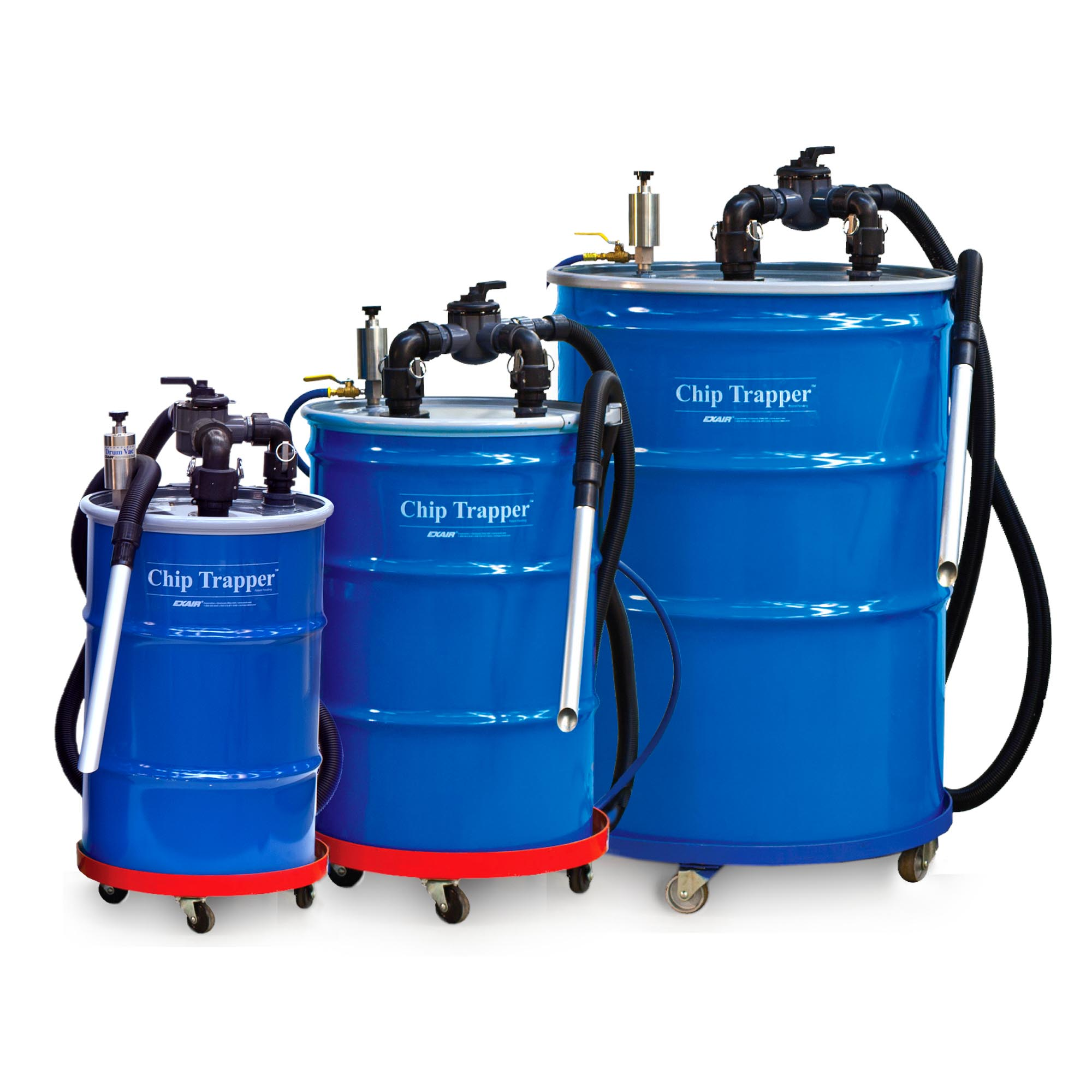 Chip Trapper Systems are available in 30, 55 and 110 gallon sizes.
