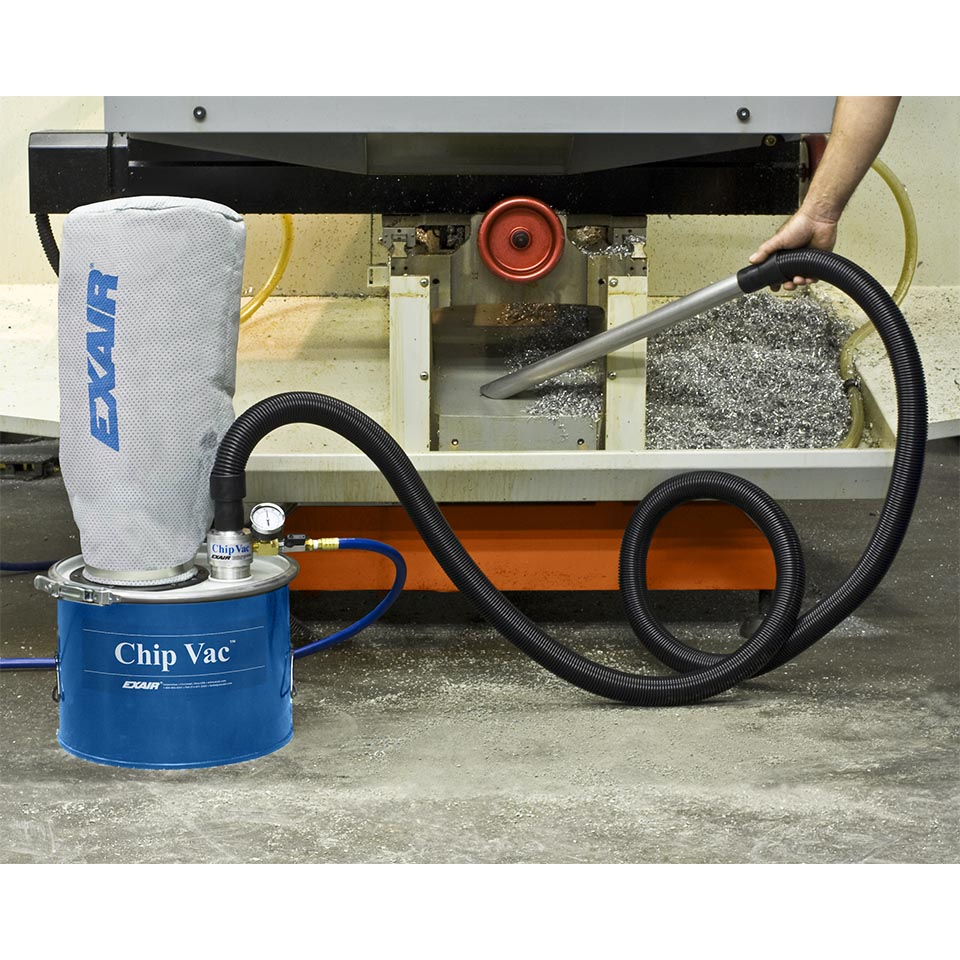 The Mini Chip Vac allows for easy clean up of small messes.
