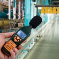 The Digital Sound Level Meter in use.