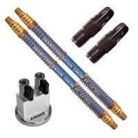 "Model 1110-PEEK-NPT-9468 (2) PEEK Nano Super Air Nozzles with (2) 18"" SSH & Mag Base"