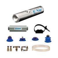 Model 811006M 6.2 SCFM E-Vac High Vacuum Generator Kit with Straight Through Muffler (Non-Porous)