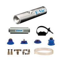 Model 811013M 13.2 SCFM E-Vac High Vacuum Generator Kit with Straight Through Muffler (Non-Porous)