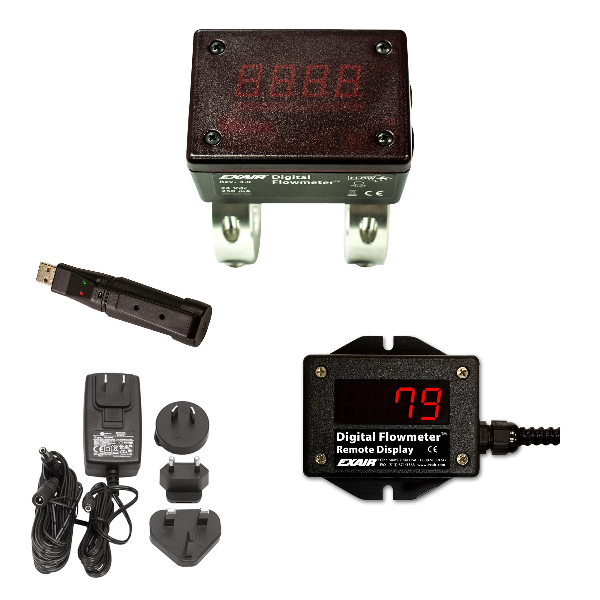 Digital Flowmeter with USB Data Logger kit