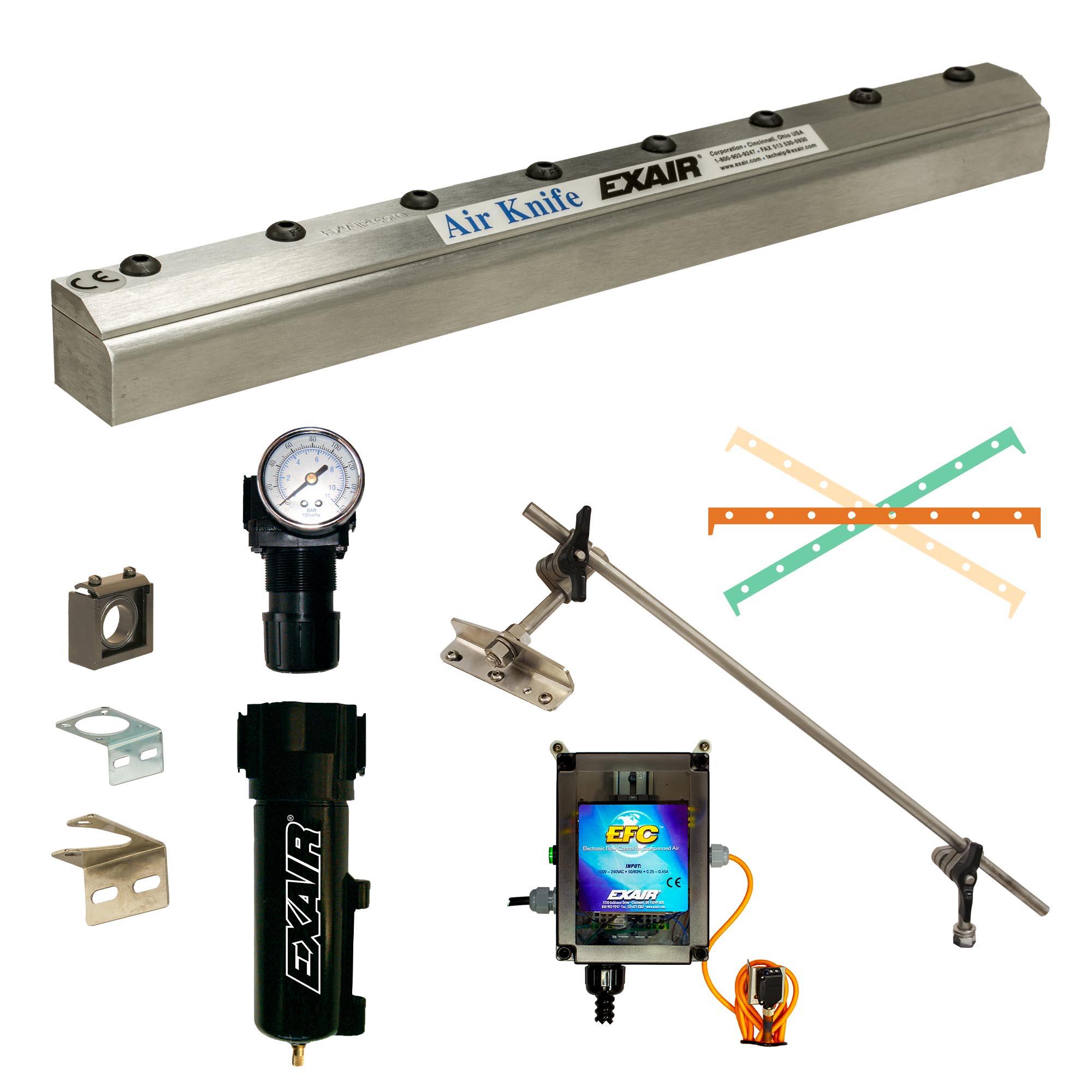 Aluminum Full-Flow Air Knife Deluxe Kit