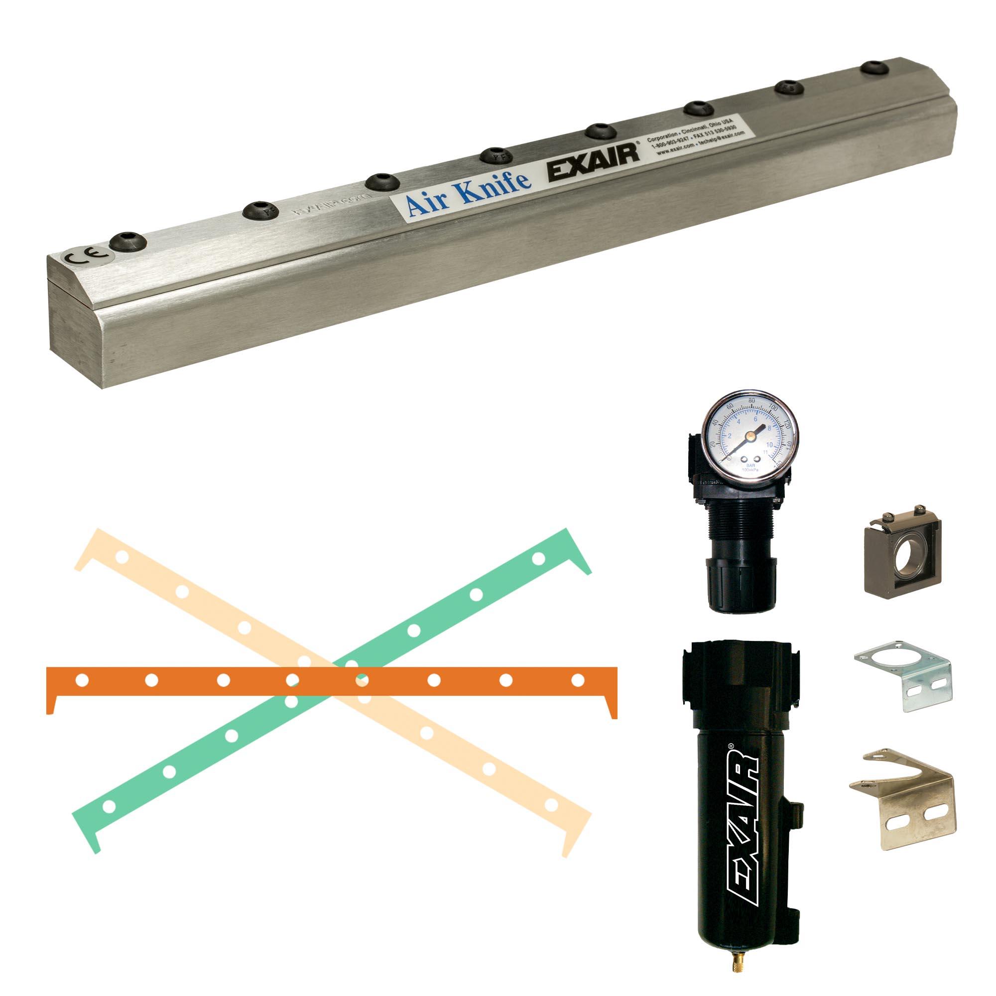 Aluminum Full-Flow Air Knife kit