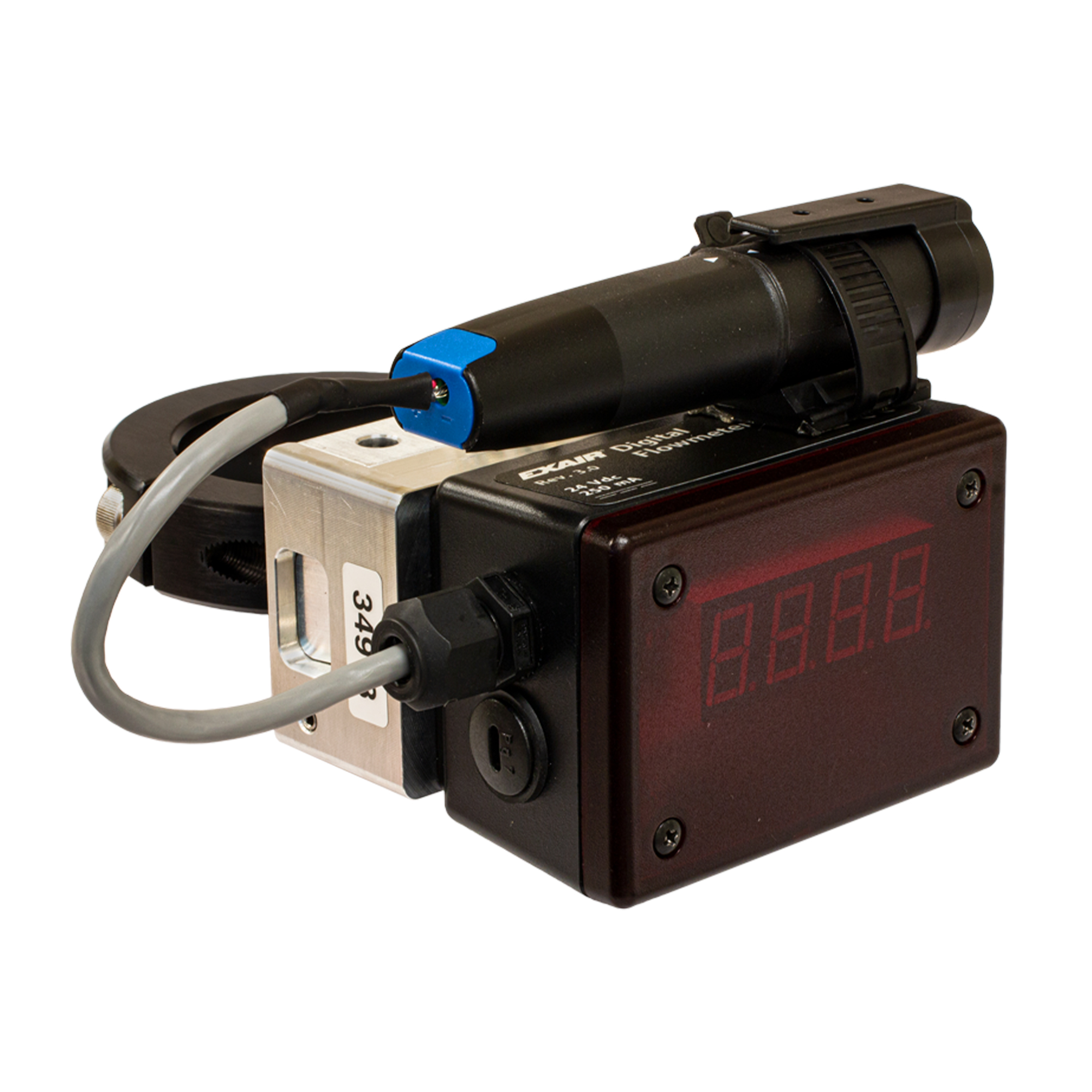 The Hot Tap Digital Flowmeter with Data logger gathers air use data from one specific manufacturing process in order to better understand air use trends.