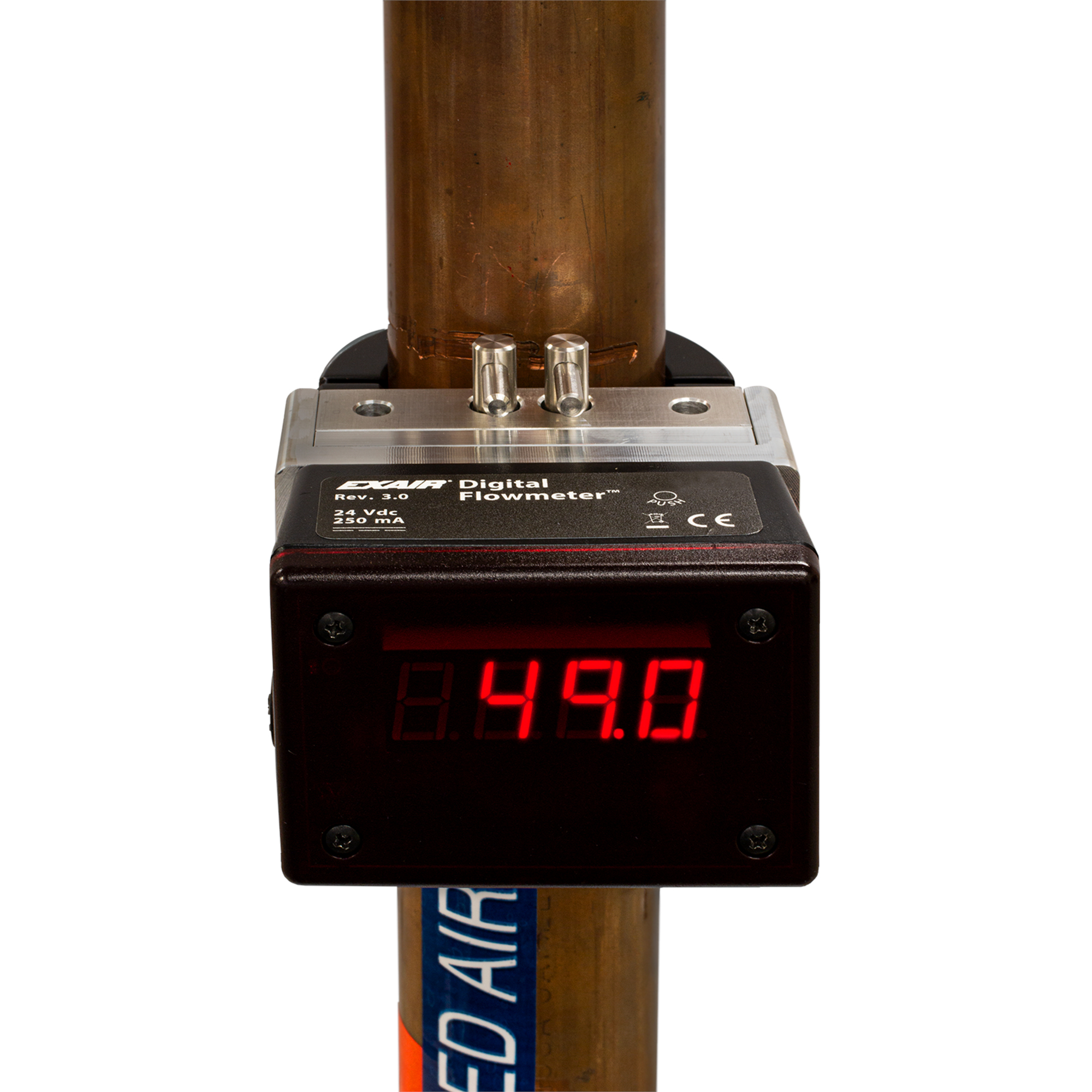 EXAIR's Hot Tap Digital Flowmeter allows for installation under pressure.