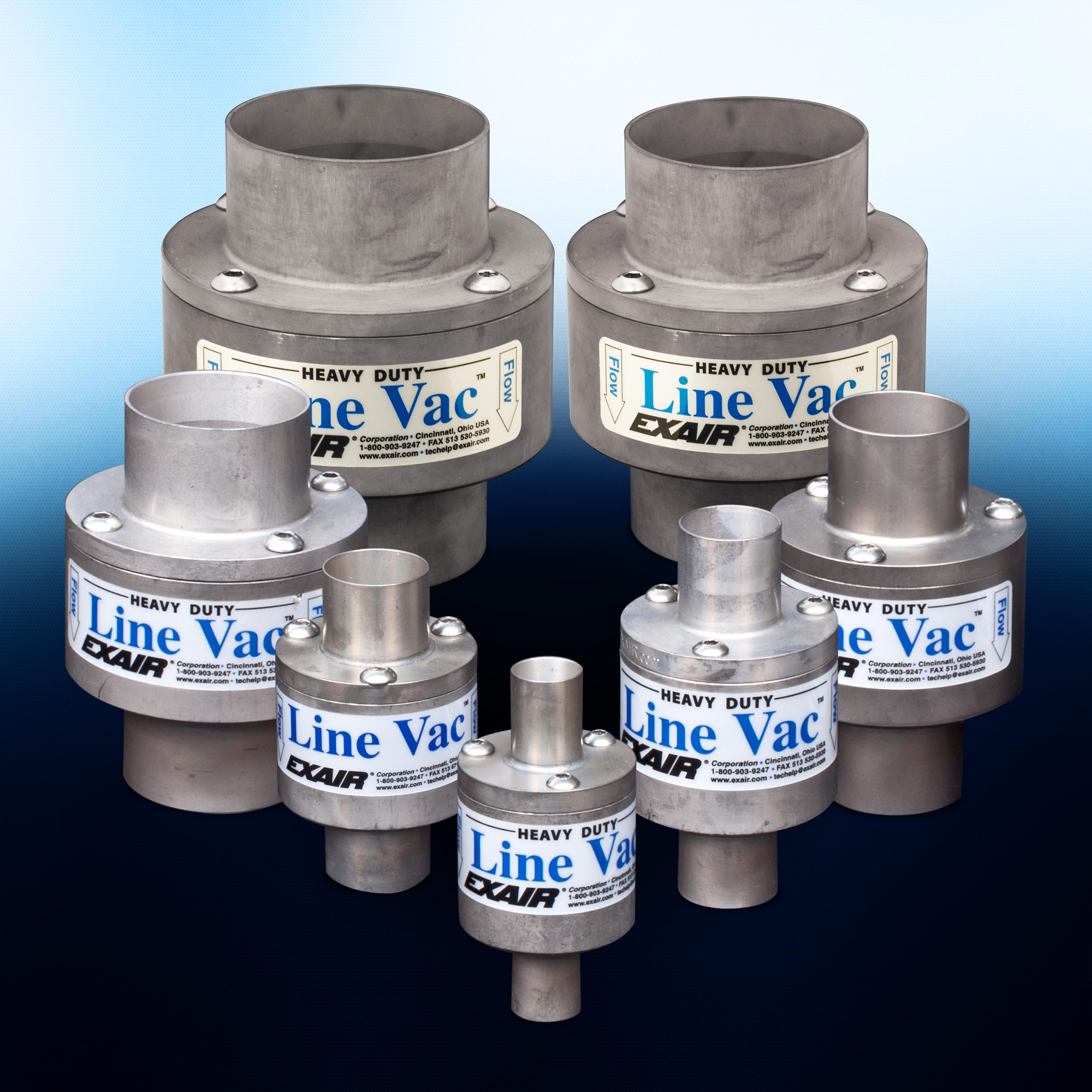 """Heavy Duty Line Vacs are available in seven sizes from 3/4"""" thru 3""""."""