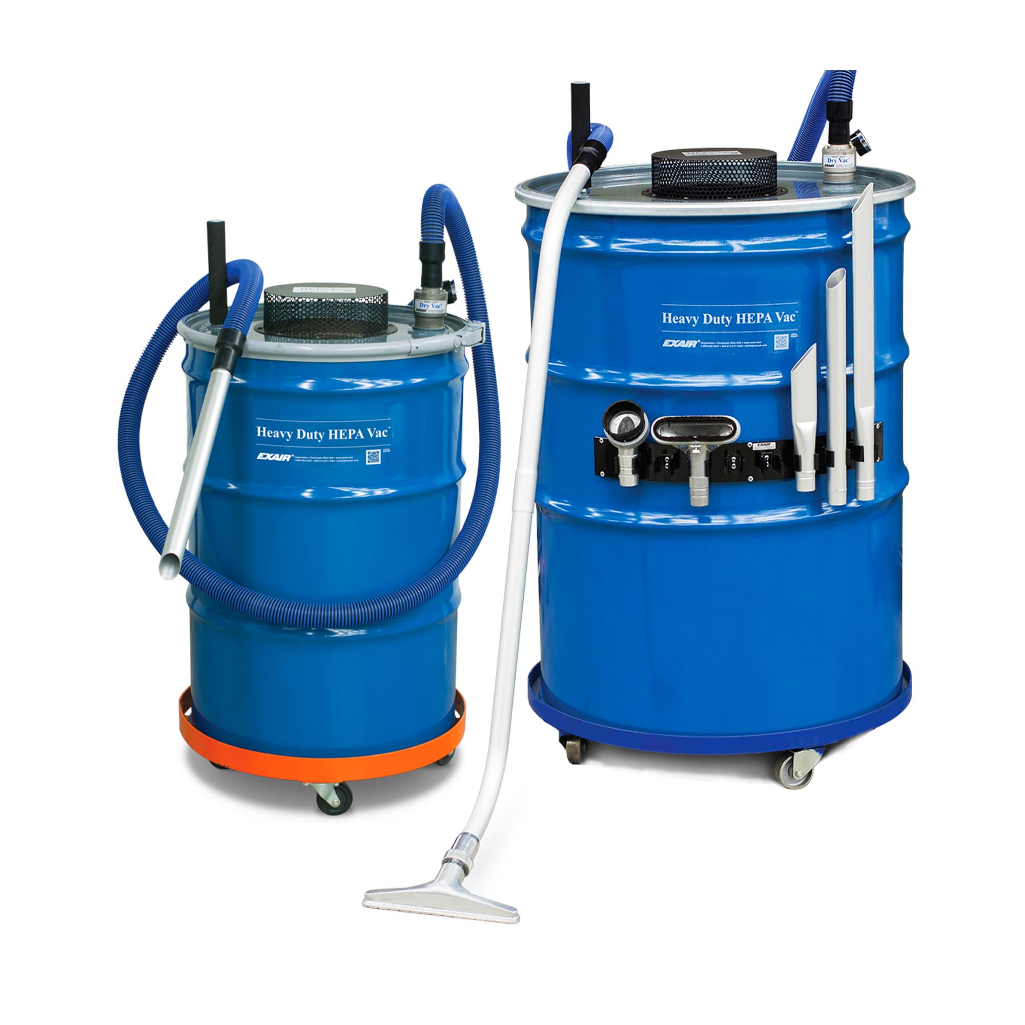 Heavy Duty HEPA Vacs are available in 30, 55 and 110 gallon sizes.