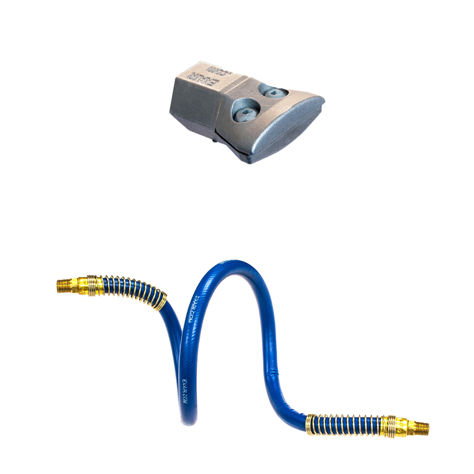 """Model HP1126-9256 1"""" High Power Super Air Nozzle with Stay Set Hose provides precise aim of airflow upon a target"""