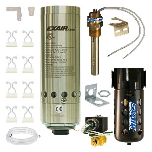 Thermostat control systems are the most efficient system because it will turn itself on and off as needed to cool your enclosure. Includes cooler, solenoid valve and thermostat, filter separator and cold air distribution kit. These are 240VAC HazLoc Cabin