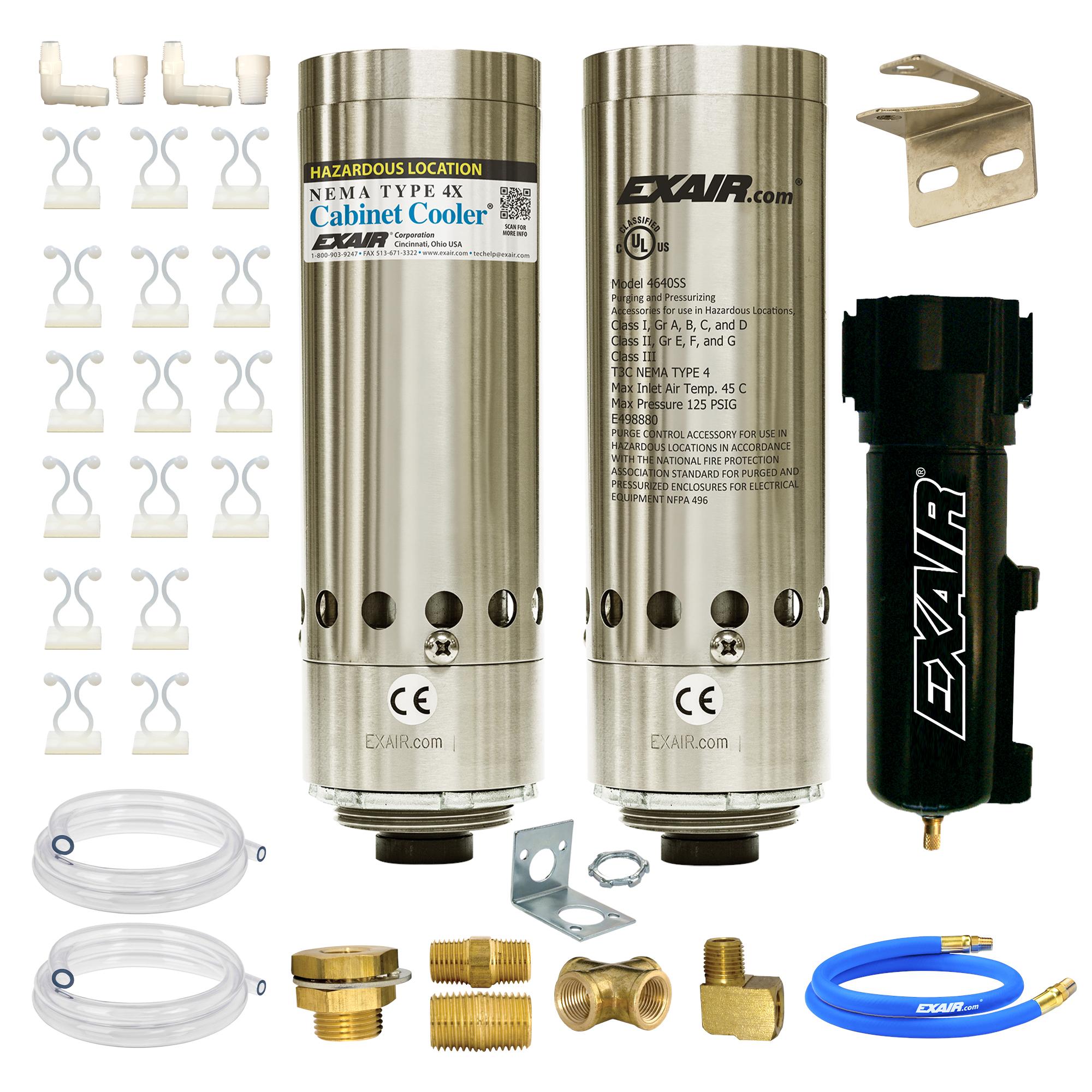 Model HZ4850 NEMA 4 3,400 Btu/hr HazLoc Cabinet Cooler w Therm