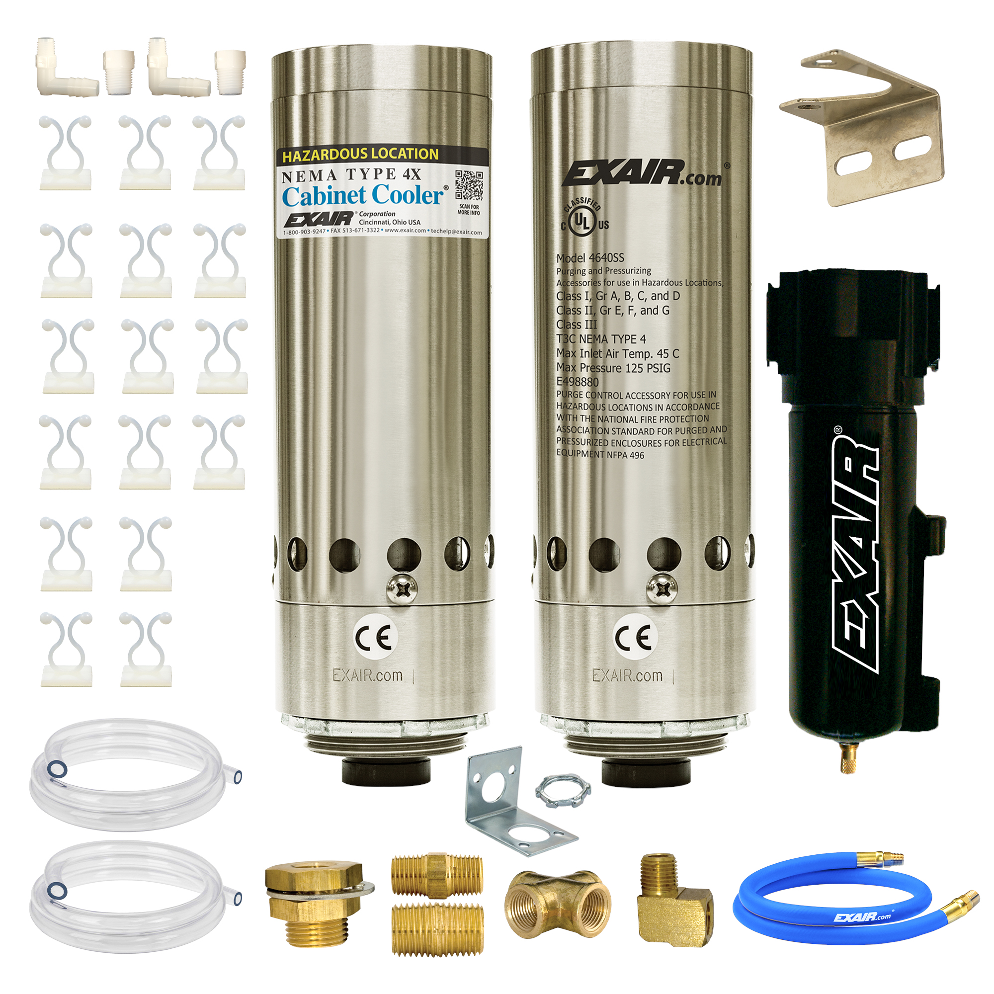 Model HZ4870 NEMA 4 4,800 Btu/hr HazLoc Cabinet Cooler w Therm