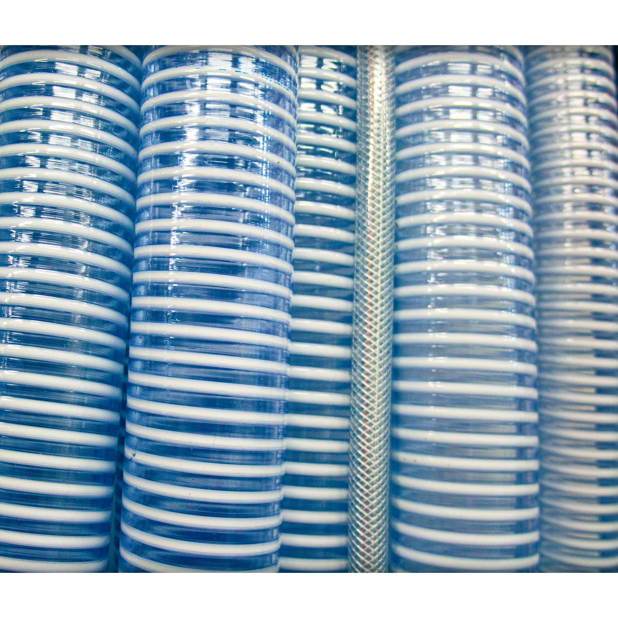 "EXAIR stocks 3/8"", 1/2"", 3/4"", 1"", 1-1/4"", 1-1/2"", 2"", 2-1/2"" and 3"" I.D. PVC hose in lengths up to 50'."