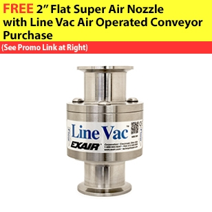 """Sanitary Flange Line Vacs are available in 4 sizes from 1-1/2"""" to 3""""."""