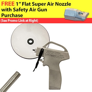 VariBlast Compact Safety Air Guns with nozzle, extension pipe and chip shield