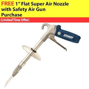 Model 1244-6-CS Soft Grip Super Air Scraper with the Model 1144 Super Air Scraper, Extension Pipe and Chip Shield